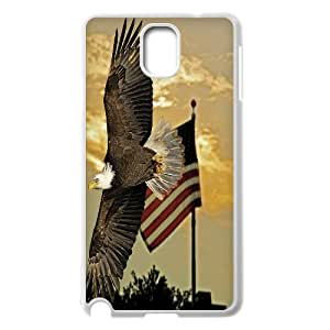 Bald Eagle on US American Flag For Samsung Galaxy NOTE3 Case Cover GHLR-T375668