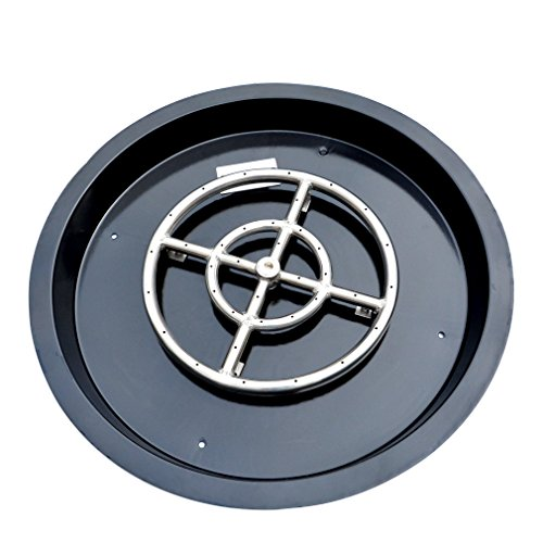 Stanbroil Porcelain Steel Round Drop-in Fire Pit Burner Ring Pan, 19-Inch (Pit Fire Porcelain)