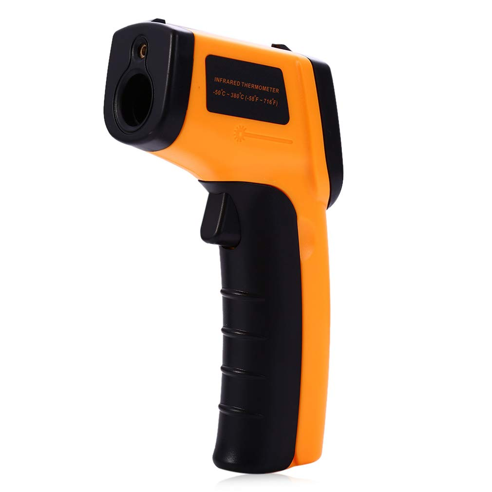 for Hot Water Pipes Engine Parts Cooking Surface 58℉~ 716℉ -50℃ ~ 380℃ Infrared Thermometer Non-contact Laser Temperature Tester