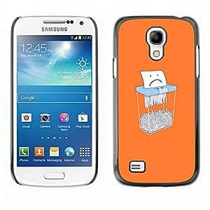 Caucho caso de Shell duro de la cubierta de accesorios de protección BY RAYDREAMMM - Samsung Galaxy S4 Mini i9190 - Papel divertido Shredder