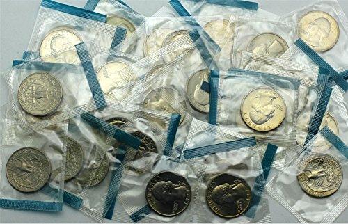 Uncirculated Quarter Roll - 1977 Washington Quarter - 40 Coins in Mint Cello - Brilliant Uncirculated