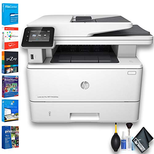 HP Laserjet Pro M426fdw All-in-One Monochrome Laser Printer (F6W15A) with Printer Essentials Software