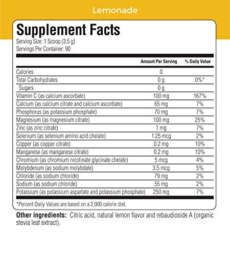 Ultima Hydrating Electrolyte Powder, Lemonade, 90 Servings, no Sugar, 0 Carbs or Calories, Keto, Gluten-Free, Paleo, Non-GMO, Vegan, with Magnesium, Potassium, Calcium