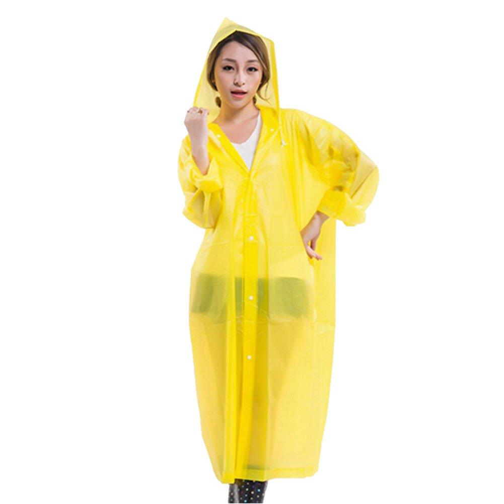 Rokoo Poncho impermeable impermeable de las mujeres EVA Poncho Impermeable ligero ambiental portá til Largo uso Capa de lluvia