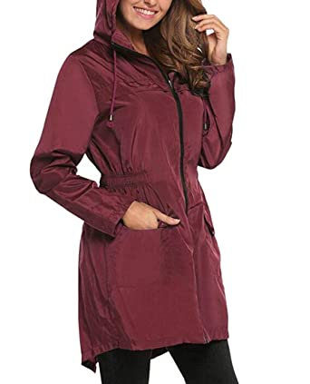 b50a4f278 Amazon.com: Cromoncent Womens Plus Size Zip Up Jacket Hooded Wind ...