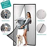 Magnetic Screen Door with Heavy Duty Curtain- Full Frame Seal,Hands Free,Pet Friendly-Fits Doors Up to 38'x82' Max
