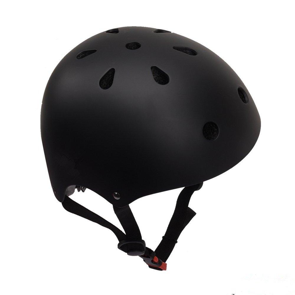 独特な店 BorMart スケートボードヘルメット 子供&大人用 耐衝撃性 通気性 マルチスポーツ 子供&大人用 自転車 スケートボード 11個の通気口付き ローラースケート BorMart BMXスクーター 11個の通気口付き B07DWMQCR1 Large|ブラック ブラック Large, セナ:fbf6c3a5 --- a0267596.xsph.ru