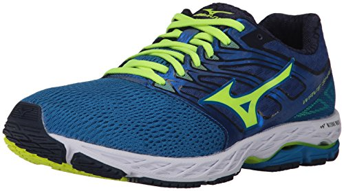 Mizuno Running Men's Mizuno Wave Shadow Running-Shoes,Directoire Blue/Safety Yellow/Blue Depths,12 D US
