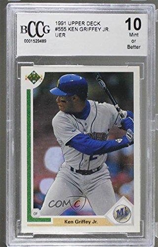 Ken Griffey Jr. BCCG GRADED 10 (Baseball Card) 1991 Upper Deck - [Base] #555