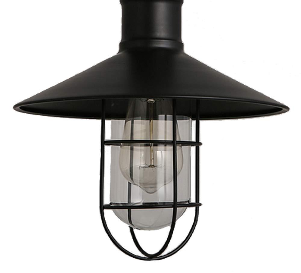 ZHMA Pendant Lamp1-Light, Retro Industrial Warehouse Ceilingt Lighting,The Chains Hanging Design Modern Iron Flush Mount Lights, Adjustable Hanging Height E26/E27 Edison Bulbs Fixture