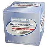 Boardwalk Disposable Eraser Pads - 16 boxes of 10 eraser pads.
