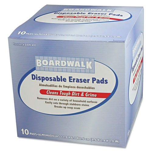Boardwalk Disposable Eraser Pads - 16 boxes of 10 eraser pads.