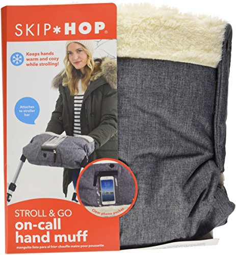 Skip Hop Stroll-and-Go Three-Season Hand Muff, One Size, Heather Grey by Skip Hop (Image #6)