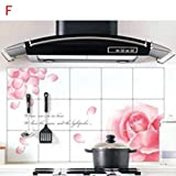 Bathhouse Wall Paper, AMA(TM) Waterproof Foil Stickers Anti-oil Wrap Kitchen Bathroom Decals Self-adhesive Decoration Stickers (Type F)