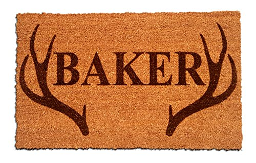 (Personalized [Your Name] Coir Fiber Laser Engraved Doormat 30