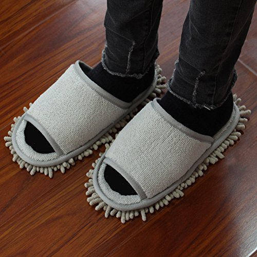 Microfiber with Ofoot Chenille Slippers Mop YFxdwqC