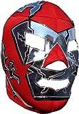 Deportes Martinez Adult Dr. Wagner Lucha Libre Mask One Size Soft Lycra Red Silver