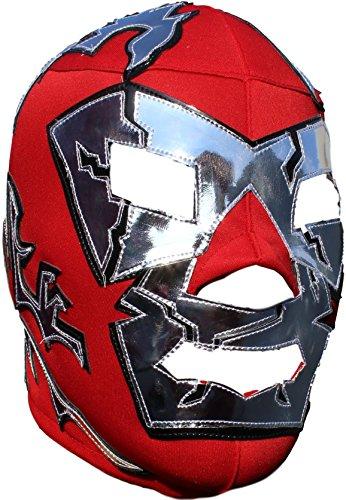 Deportes Martinez Adult Dr. Wagner Lucha Libre Mask One Size Soft Lycra Red Silver by Deportes Martinez