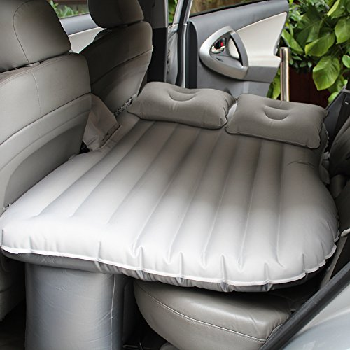 Car Travel Air Mattress Air Cushion Bed Multifunctional Mobile Inflatable Bed Cushion for Sleep Rest and Intimate Motion (Buff)