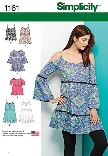(Simplicity Patterns US1161A Misses' Mini Dress or Tunics and Top, A (XS-S-M-L-XL) )