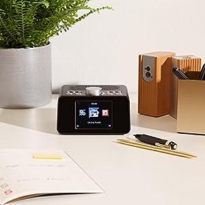Auna I Snooze Internetradio Radiowecker (WLAN, USB Port, 3,2u2033  TFT Farbdisplay, MP3 Fähig, Stereolautsprecher, Dual Alarm) Weiß