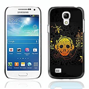 Graphic4You Crazy Music Skull Skeleton Design Hard Case Cover for Samsung Galaxy S4 Mini