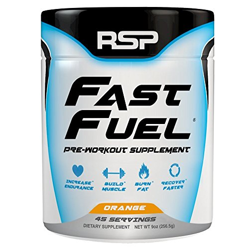 RSP Nutrition Fast Fuel Supplement, Orange, 256.5 Gram