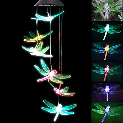 Garden Solar Powered Colour Changing Wind Chime Light