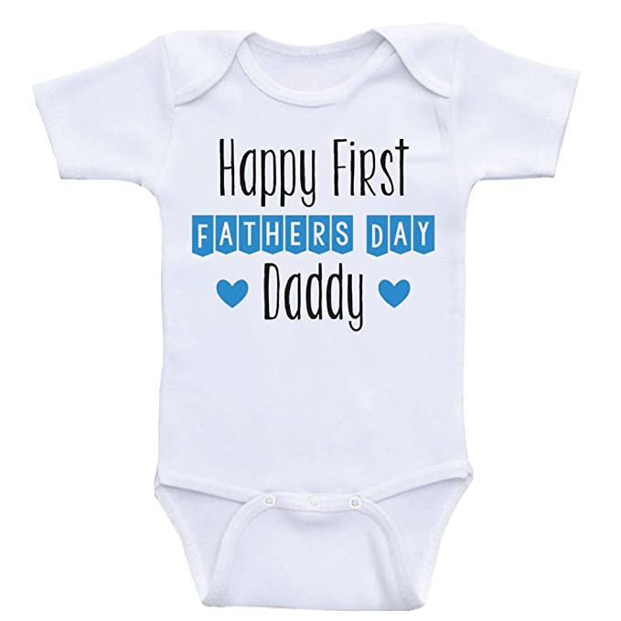 11b29f1a Heart Co Designs Father's Day Baby Onesies Happy First Father's Day Daddy  One Piece Baby Clothes