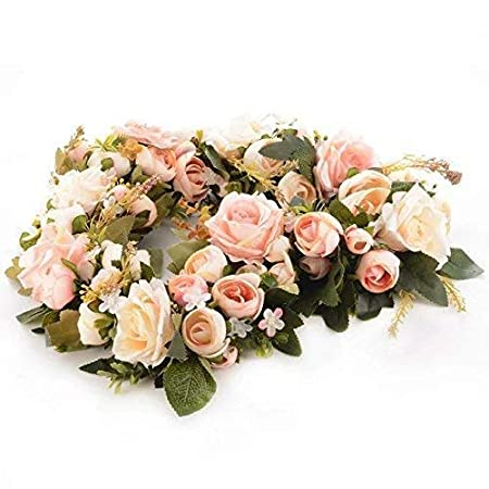 Adeeing Classic Artificial Simulation Flowers for Home Room Garden Lintel Decoration,Pink Peonies
