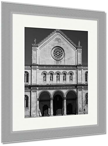 Ashley Framed Prints Catholic Parish And University Church Ludwigskirche In Munich G, Wall Art Home Decoration, Black/White, 30x26 (frame size), Silver Frame, AG6544609 by Ashley Framed Prints