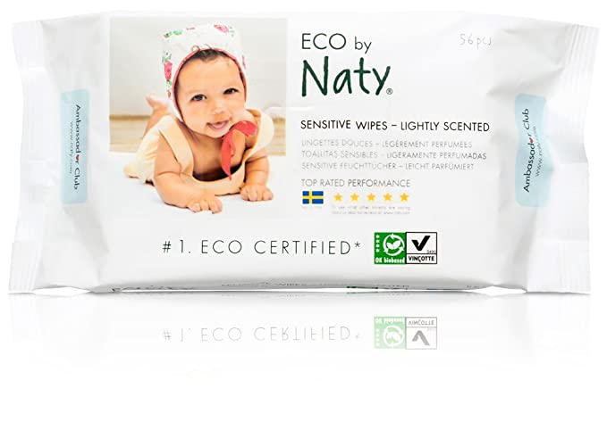 Naty by Nature Babycare ECO Lightly Scented Wipes - 12 x Packs of 56 (672 Wipes) by Nature Babycare: Amazon.es: Salud y cuidado personal