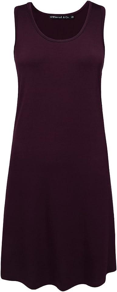 Womens Nightshirt Comfy Sleepwear Knit Nightdress Short Sleeve Nightgown OThread /& Co