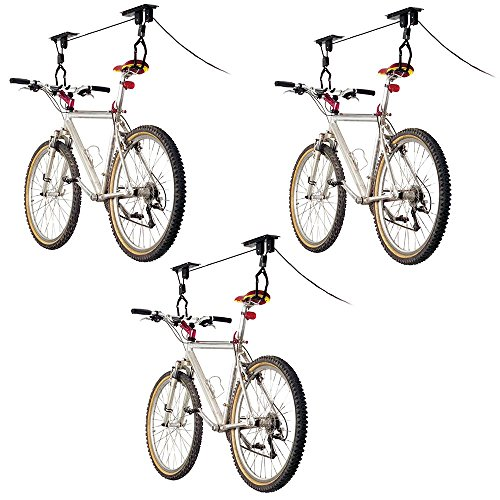 Discount Ramps 3-Bike Elevation Garage Bicycle Hoist Kit (Pulley System Bike Hoist)