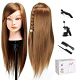 TopDirect 50cm/20' Mannequin Head Hair Synthetic Cosmetology Maniquin Manikin Hairdressing Training Head Doll with Clamp Hold