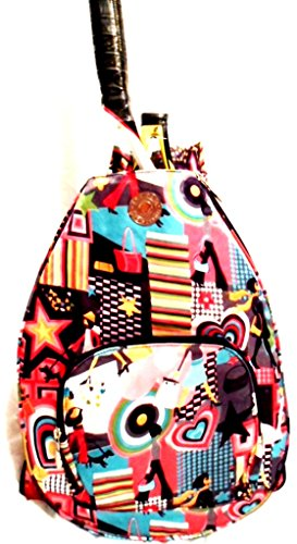 Jetpac Small Sling - Jetpac Retro Hearts Floral Tennis Backpack Bag