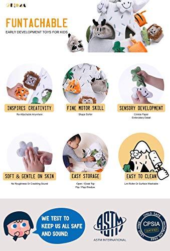 OK!DZO 12'' Mountain & Animal Shape Sorter Plush Developmental Toy Set (16 pcs)- Cognitive & Motor & Social Skills- Fun Bright Colors & Textures for Babies 0-36 Months by OK!DZO (Image #8)