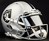Riddell Speed OAKLAND RAIDERS NFL AUTHENTIC Football Helmet with MIRRORED Eye Shield/Visor