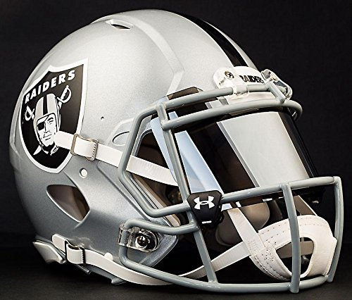 Riddell Speed OAKLAND RAIDERS NFL AUTHENTIC Football Helmet with MIRRORED Eye Shield/Visor by Riddell