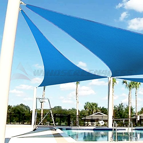 Windscreen4less 16 x 16 x 16 sun shade sail canopy in for Shade sail cost