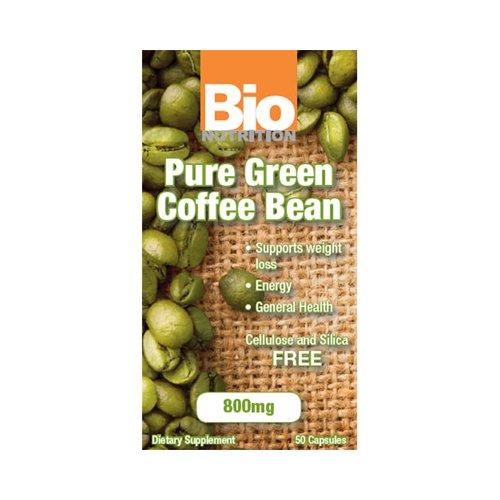 2 Packs of Bio Nutrition Pure Green Coffee Bean - 50 Gelcaps