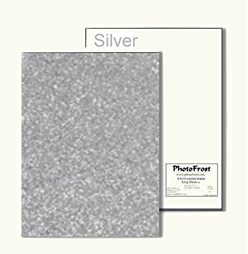 Silver Colored Edible Scrapbooking Icing Sugar Frosting Sheets - 12 pack