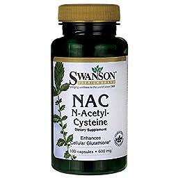 Swanson Nac N-Acetyl Cysteine 600 mg 100 Caps