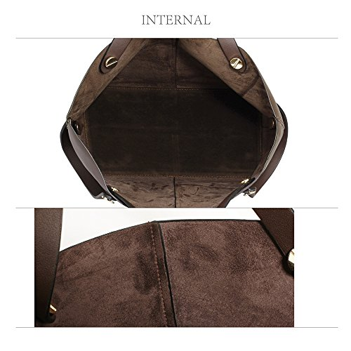 Shopper Set Bag Womens Handbag Coffee Shoulder Leather Ladies Large Purse Designer New 7CZqw