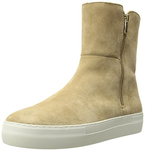 JSlides Women's Allie Sneaker, Sand Suede, 6.5 Medium US by J Slides