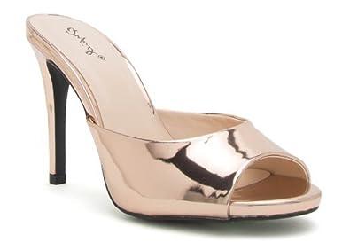 d135df49060e Qupid Rose Gold Peep Toe Kitten Heels (9)