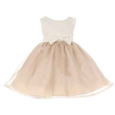 2a2033d4941 Amazon.com  Cinderella Couture Baby Girls Satin Organza Bow Headband Dress   Clothing