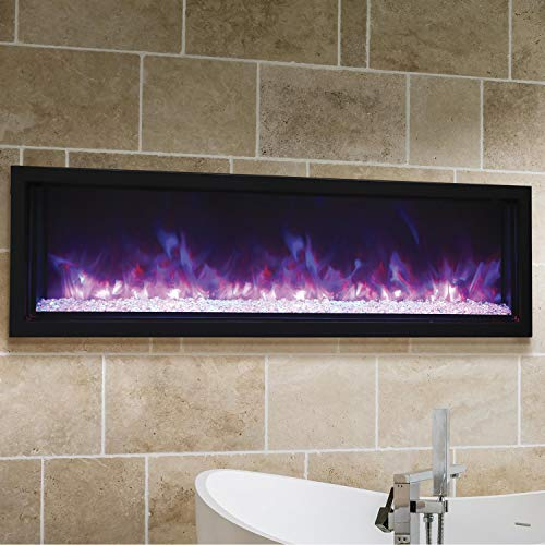 Cheap Amantii 60? Extra Slim Indoor or Outdoor Electric Built-in only Electric Fireplace with Black Steel Surround Black Friday & Cyber Monday 2019