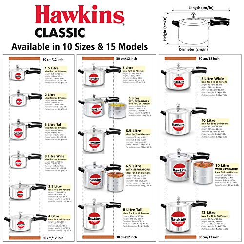 HAWKINS-Classic-CL15-15-Liter-New-Improved-Aluminum-Pressure-Cooker-Small-Silver