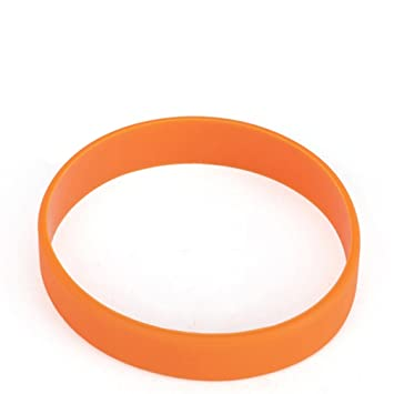 Bracelet caoutchouc orange